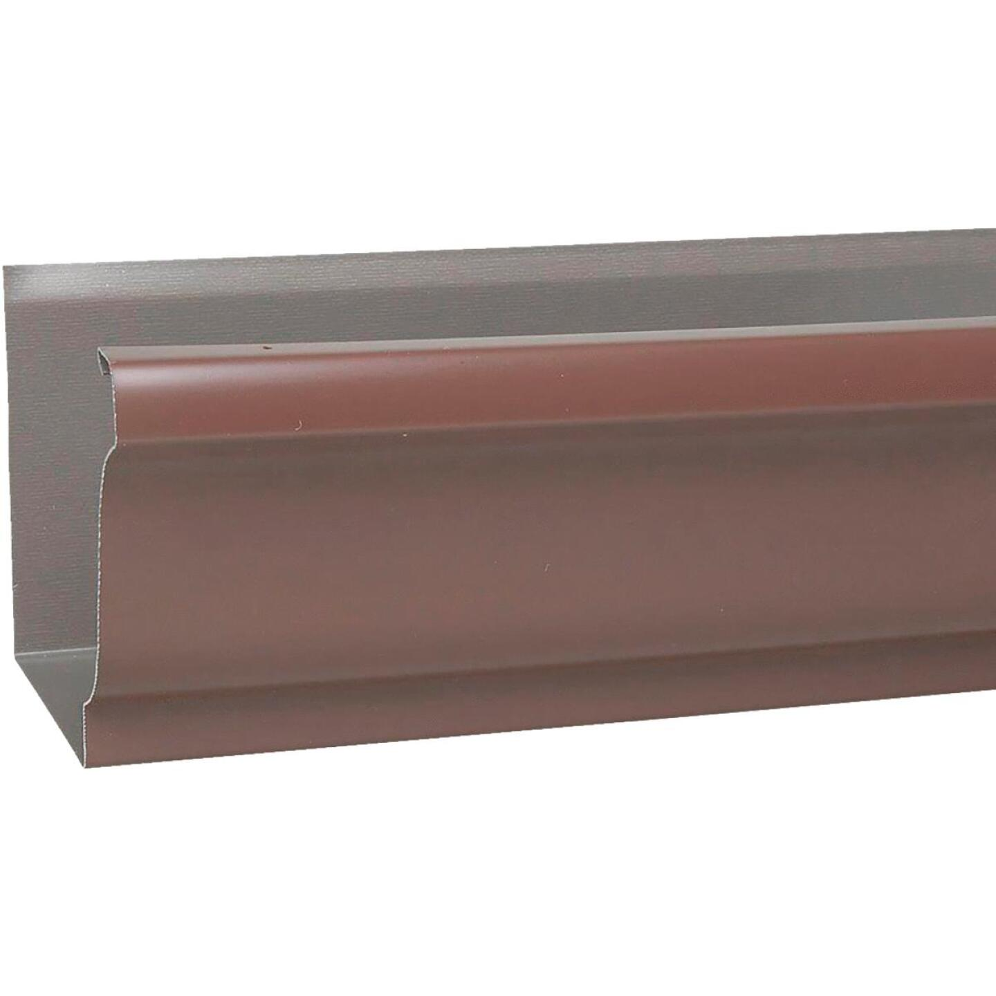 Spectra Metals 5 In. x 10 Ft. K-Style Brown High Tensile Aluminum Gutter Image 1