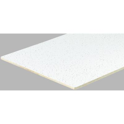 Radar Fissured 2 Ft. x 4 Ft. White Mineral Fiber Square Edge Suspended Ceiling Tile (16-Count)