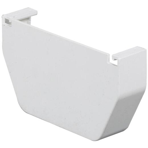 Amerimax 5 In. Contemporary White Vinyl Gutter End Cap
