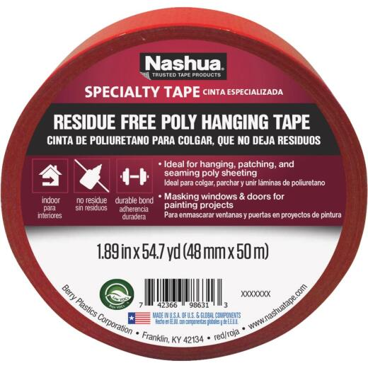 Nashua 48 Mm. x 50 M. 7 mil Red Sheeting Tape