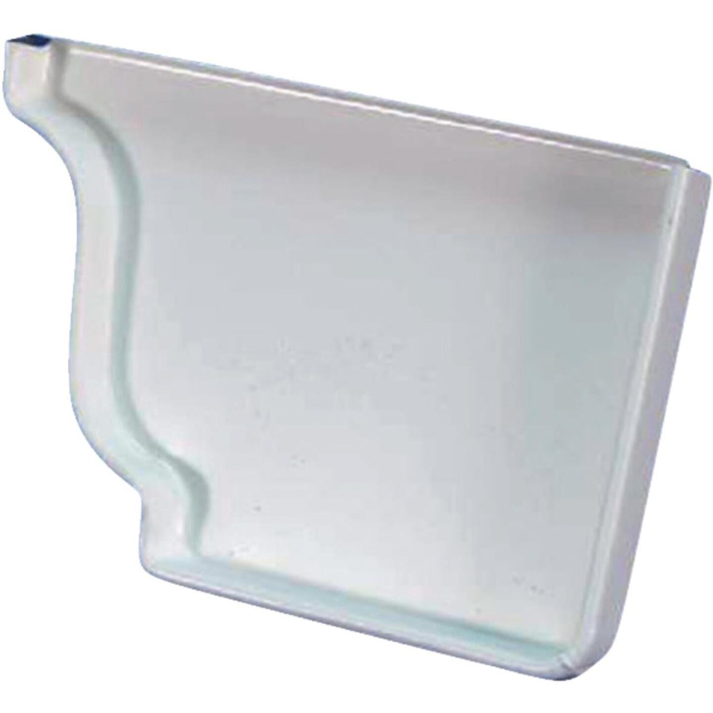 Spectra Metals 5 In. Aluminum White Right Gutter End Cap Image 1