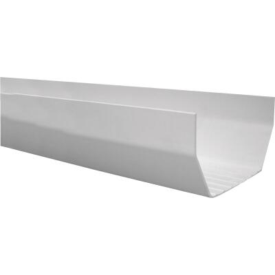 RainGo 5 In. x 10 Ft. White Vinyl Gutter