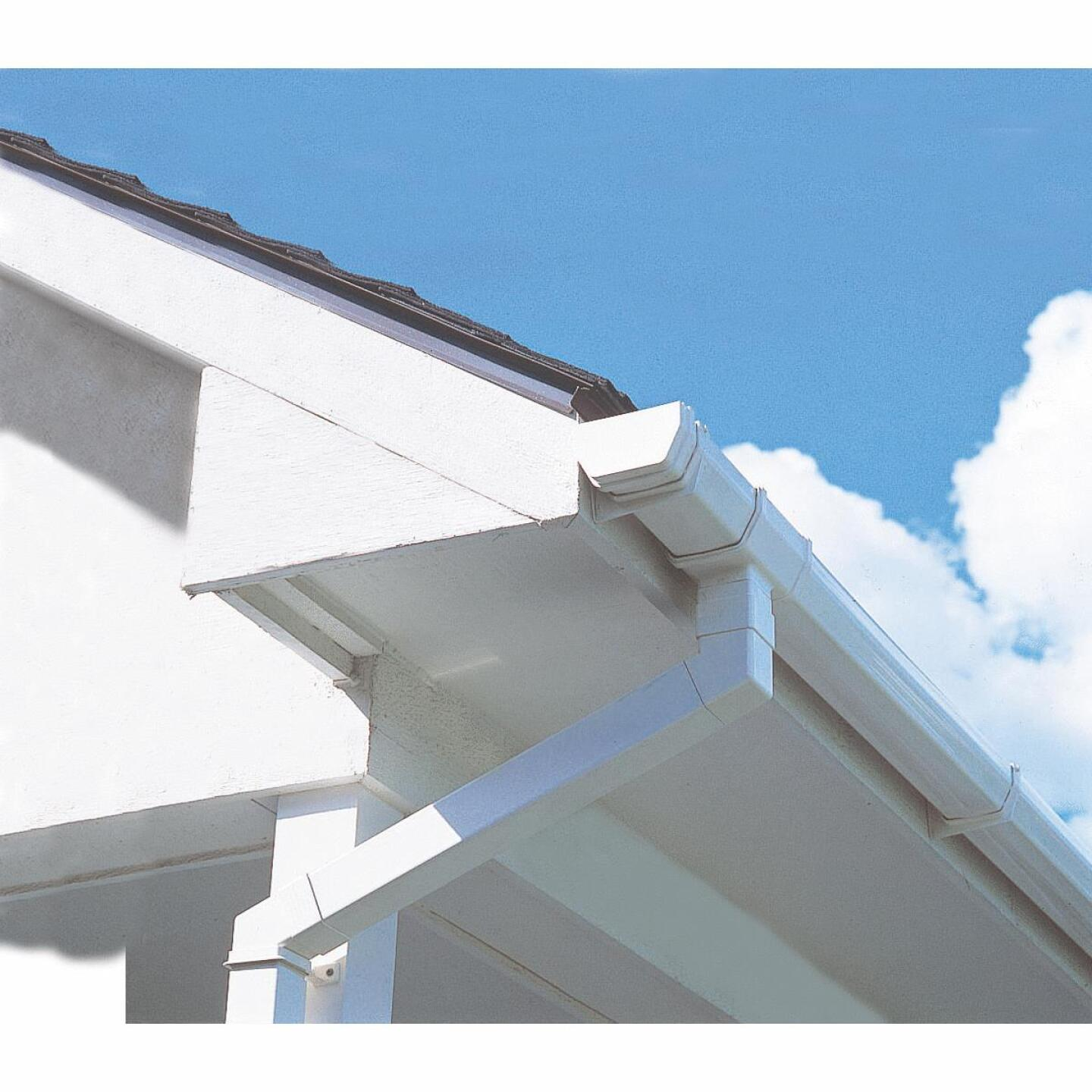 RainGo 5 In. x 10 Ft. White Vinyl Gutter Image 2
