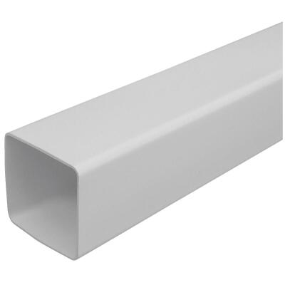 RainGo 2-1/2 In. Square White Vinyl Downspout