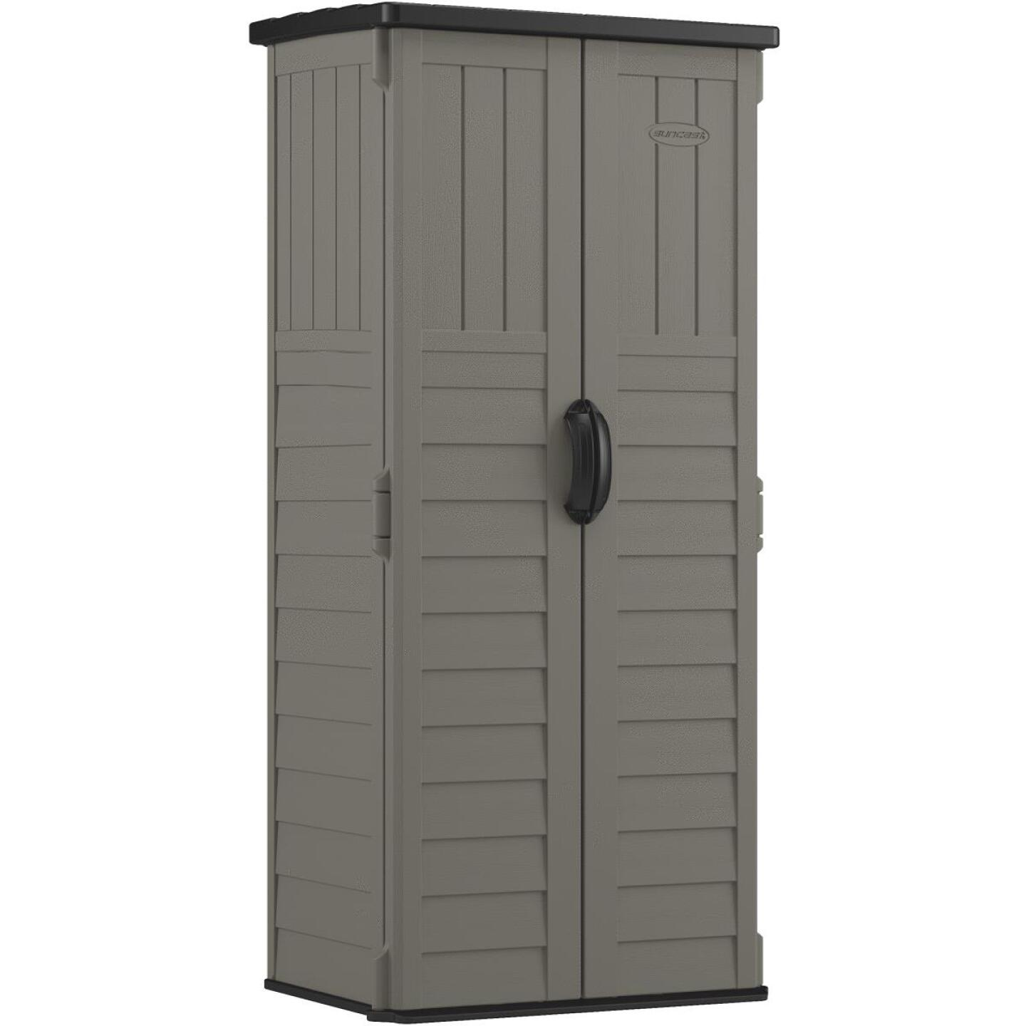 Suncast 22 Cu. Ft. Vertical Storage Shed Image 1