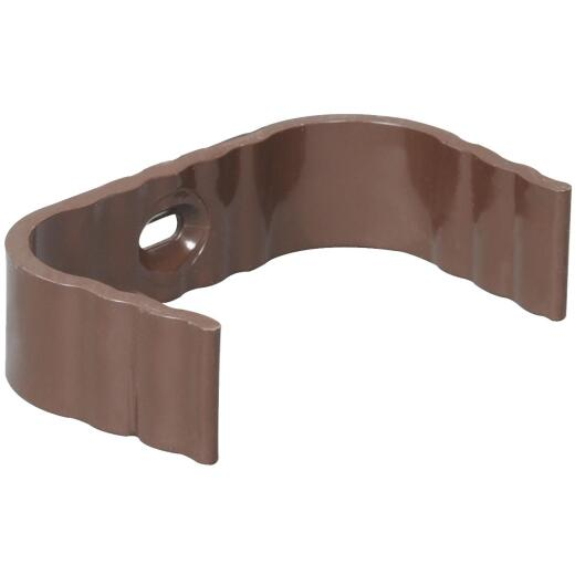 Amerimax 2 In. x 3 In. Traditional K-Style Brown Vinyl Downspout Clip