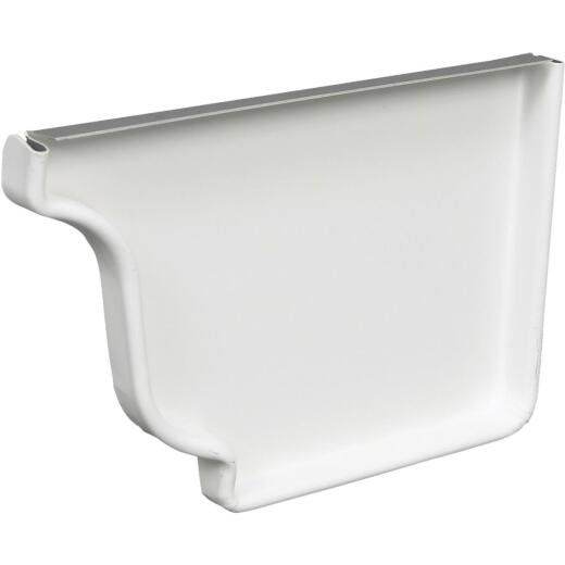 Amerimax 5 In. Galvanized White Right Gutter End Cap