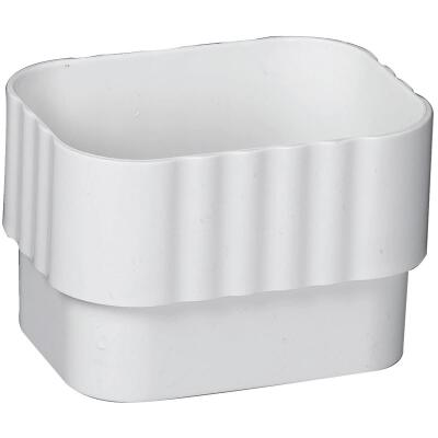 Amerimax 2 In. x 3 In. Traditional K-Style White Vinyl Downspout Connector