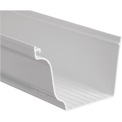 Repla K 5 In. x 10 Ft. White Vinyl Gutter