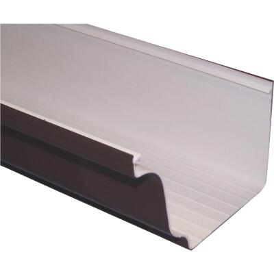 Repla K 5 In. x 10 Ft. Brown Vinyl Gutter
