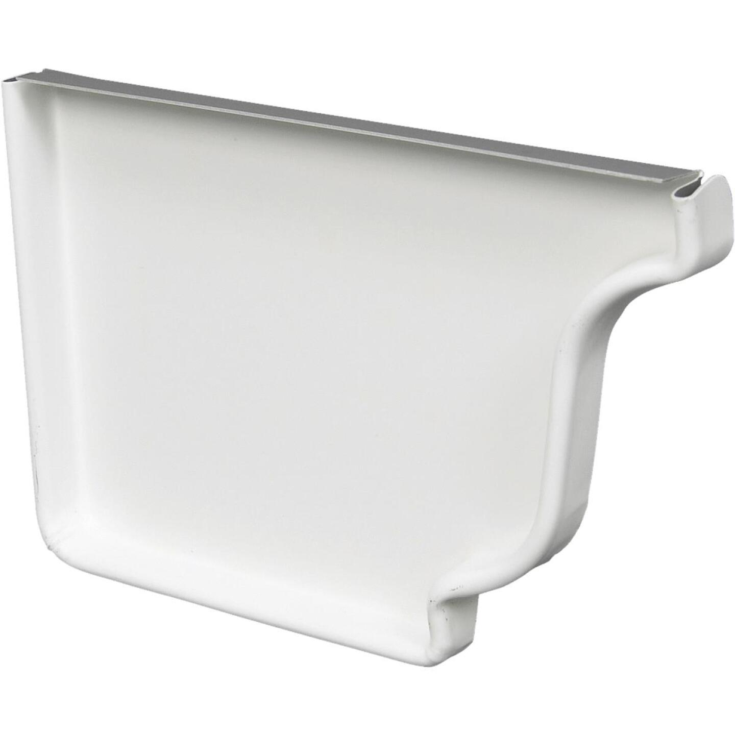 Spectra Metals 5 In. Aluminum White Left Gutter End Cap Image 1