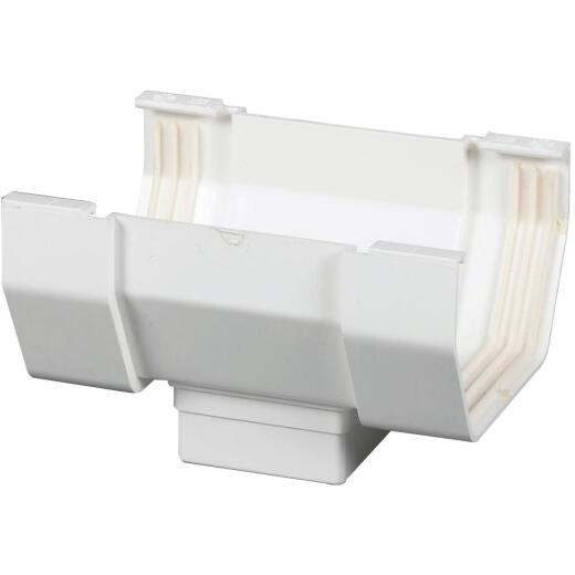 Amerimax 5 In. Center Drop Outlet for White Vinyl Contemporary Gutter