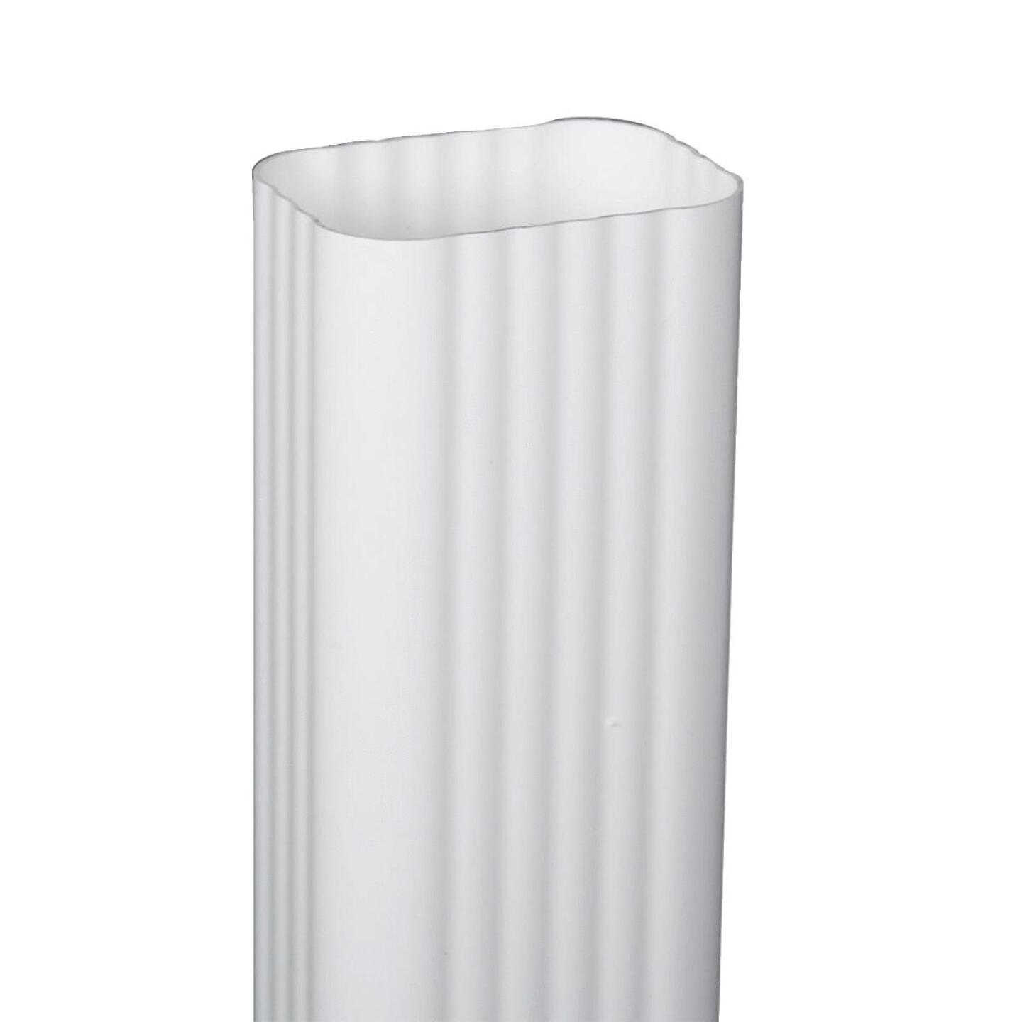 Amerimax 2 In. x 3 In. x 10 Ft. Traditional K-Style White Vinyl Downspout Image 1