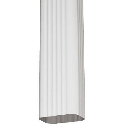 Spectra Metals 3 In. x 4 In. White Aluminum Downspout