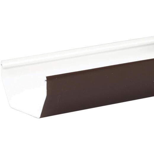 Amerimax 5 In. Contemporary Brown Vinyl Gutter 10 Ft.