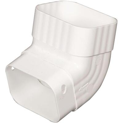 Amerimax 2 In. x 3 In. White Vinyl Front A Elbow