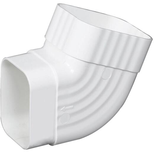 Amerimax 2 In. x 3 In. White Vinyl Side B Elbow