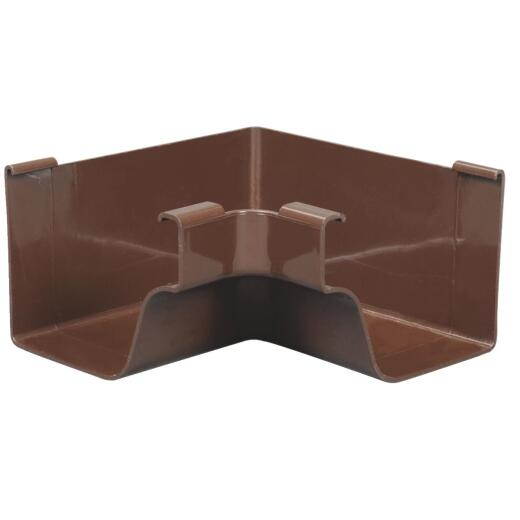 Amerimax 5 In. Traditional K-Style Brown Vinyl Gutter Inside Miter