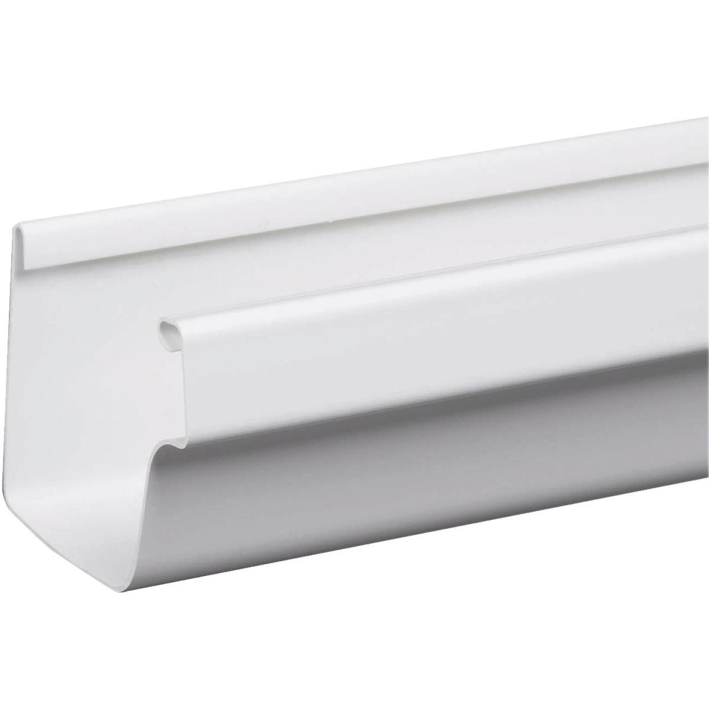 Amerimax 5 In. Traditional K-Style White Vinyl Gutter 10 Ft. Image 1