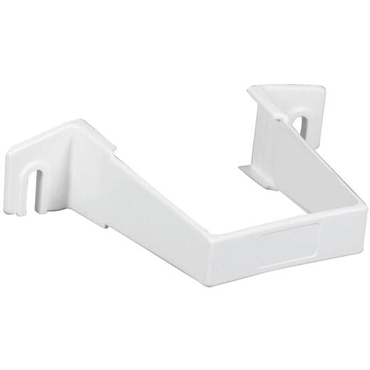Amerimax 2 In. Contemporary White Vinyl Square Downspout Clip