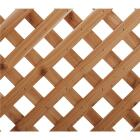 Real Wood Products 4 Ft. W. x 8 Ft. L. x 3/4 In. Thick Natural Cedar Privacy Diamond Lattice Panel Image 1