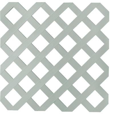 Dimensions 4 Ft. W x 8 Ft. L x 3/16 In. Thick Paintable Vinyl Classic Lattice Panel