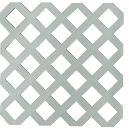 Dimensions 4 Ft. W x 8 Ft. L x 1/8 In. Thick Paintable Vinyl Lattice Panel