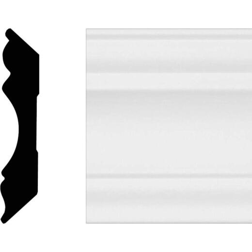 House of Fara 5/8 In. W. x 3-1/8 In. H. x 8 Ft. L. White MDF Colonial Crown Molding