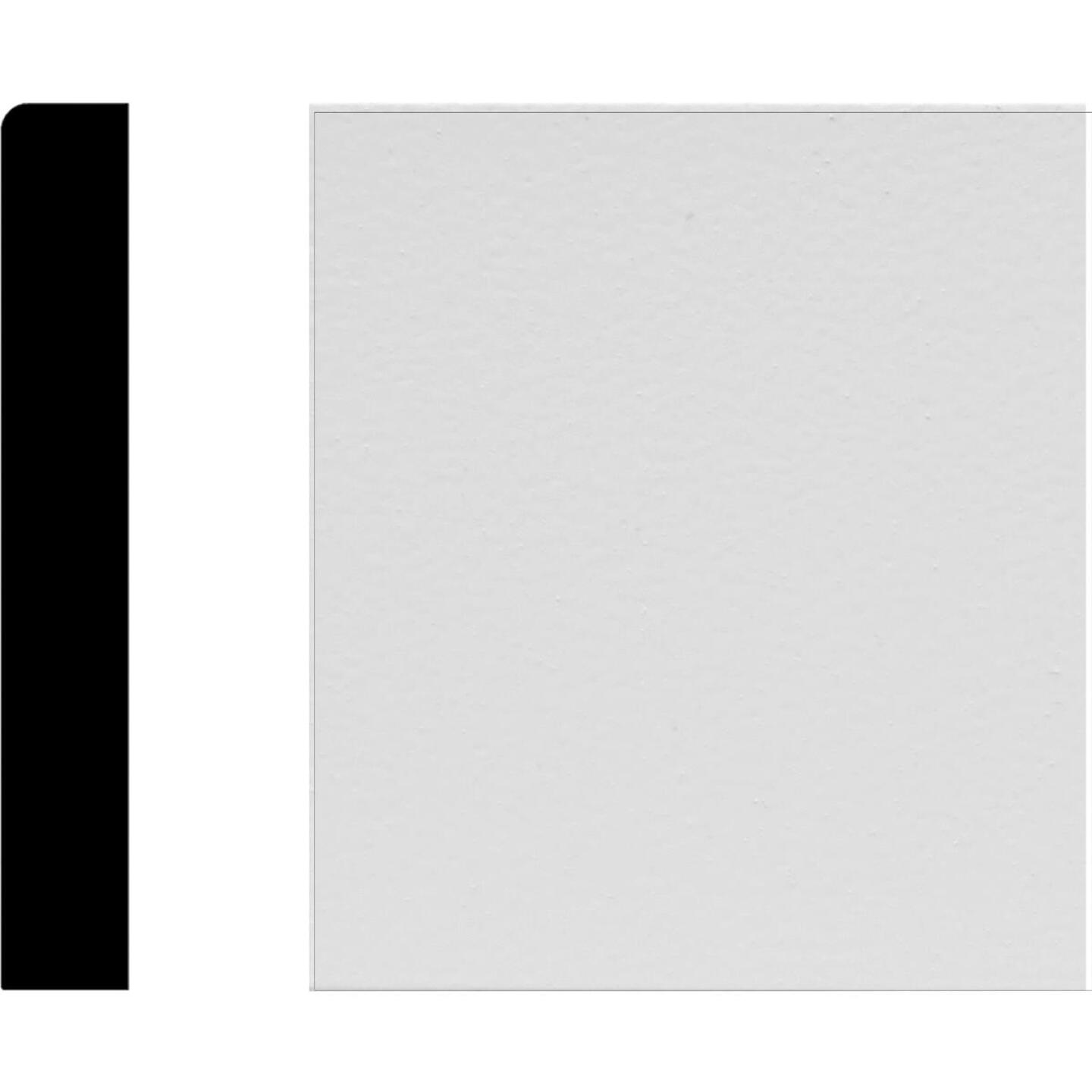 House of Fara 1/2 In. W. x 3-1/2 In. H. x 8 Ft. L. White MDF Mullion Base Molding Image 1