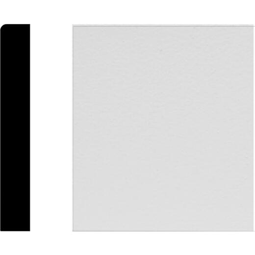 House of Fara 1/2 In. W. x 3-1/2 In. H. x 8 Ft. L. White MDF Mullion Base Molding