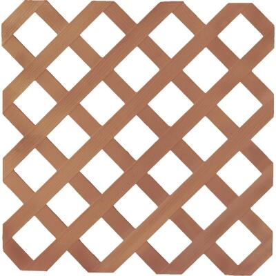 Dimensions 4 Ft. W x 8 Ft. L x 1/8 In. Thick Redwood Vinyl Lattice Panel