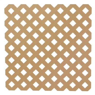 Dimensions 4 Ft. W x 8 Ft. L x 3/16 In. Thick Cedar Colored Vinyl Privacy Lattice Panel