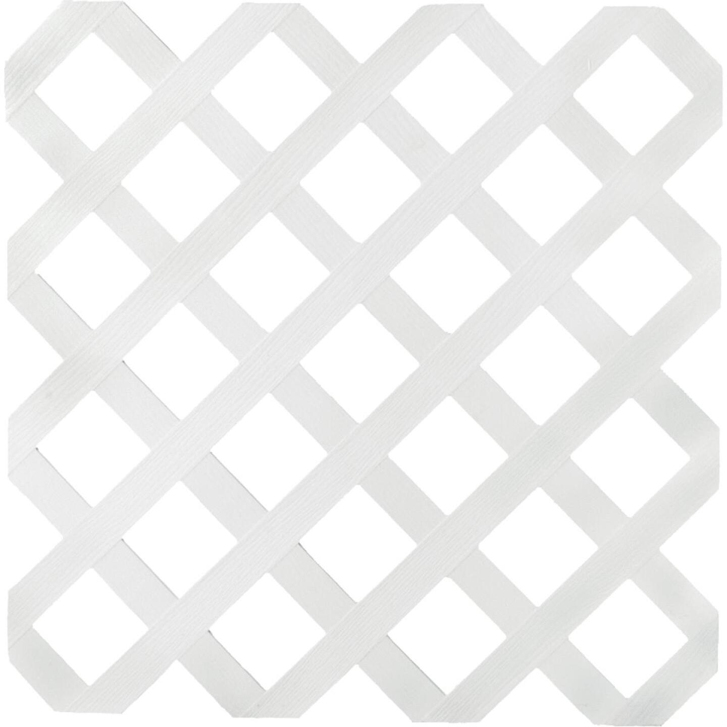 Dimensions 4 Ft. W x 8 Ft. L x 1/8 In. Thick White Vinyl Lattice Panel Image 1