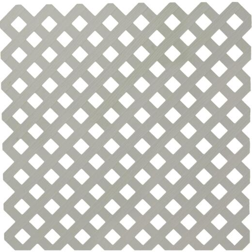 Dimensions 4 Ft. W x 8 Ft. L x 3/16 In. Thick Gray Vinyl Privacy Lattice Panel