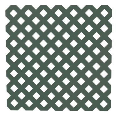 Dimensions 4 Ft. W x 8 Ft. L x 3/16 In. Thick Dark Green Vinyl Privacy Lattice Panel