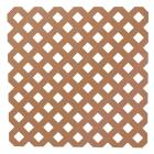 Dimensions 4 Ft. W x 8 Ft. L x 3/16 In. Thick Redwood Vinyl Privacy Lattice Panel Image 1