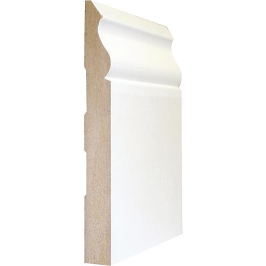 Cedar Creek 163E 35/64 In. W. x 5-1/4 In. H. x 8 Ft. L. White MDF Colonial Base Molding