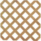 Dimensions 4 Ft. W x 8 Ft. L x 1/8 In. Thick Cedar Colored Vinyl Lattice Panel Image 1