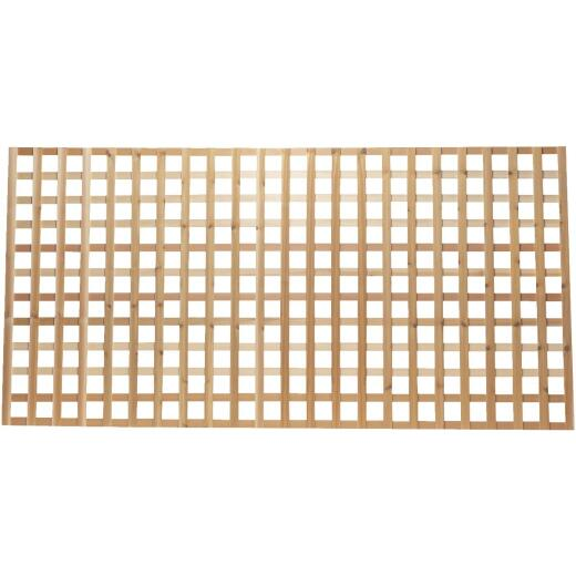 Real Wood Products 4 Ft. W x 8 Ft. L x 3/4 In. Thick Natural Western Red Cedar Heavy-Duty Lattice Panel