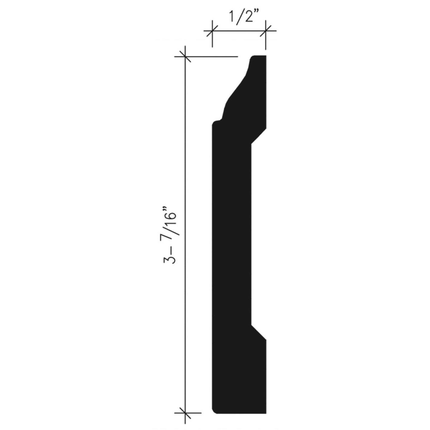 Inteplast Building Products 1/2 In. W. x 3-7/16 In. H. x 8 Ft. L. Independence Cherry Polystyrene Colonial Base Molding Image 4