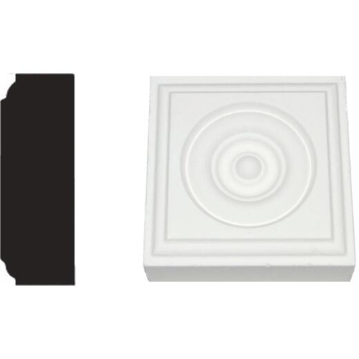 House of Fara 7/8 In. x 2-1/2 In. Primed MDF Rosette