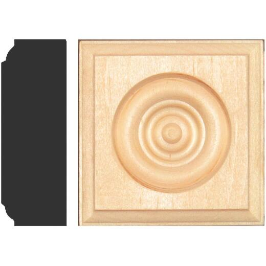House of Fara 7/8 In. x 2-1/2 In. Unfinished Pine Rosette