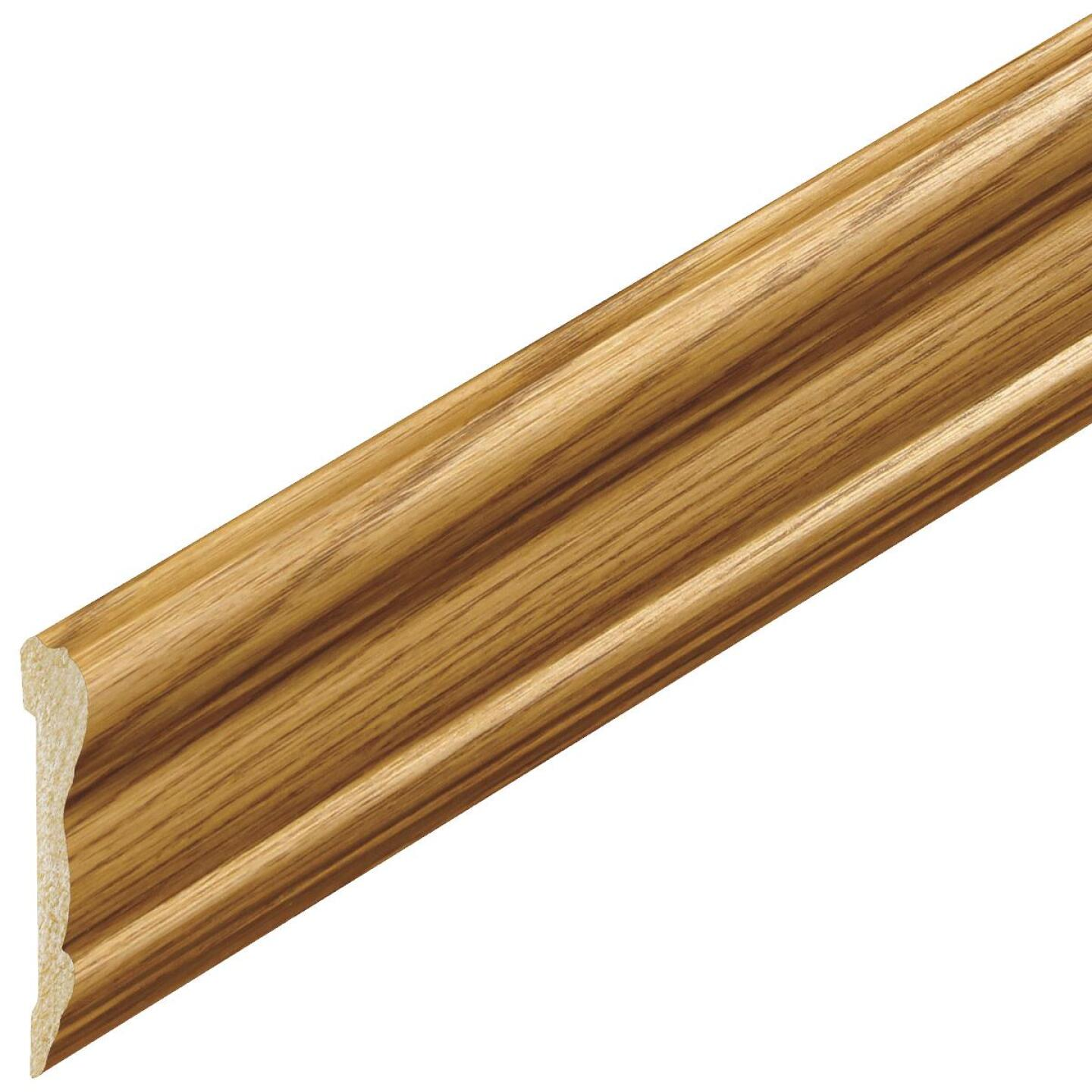 Inteplast Building Products 5/8 In. x 2-5/8 In. x 8 Ft. Ultra Oak Polystyrene Chair Rail Molding Image 2