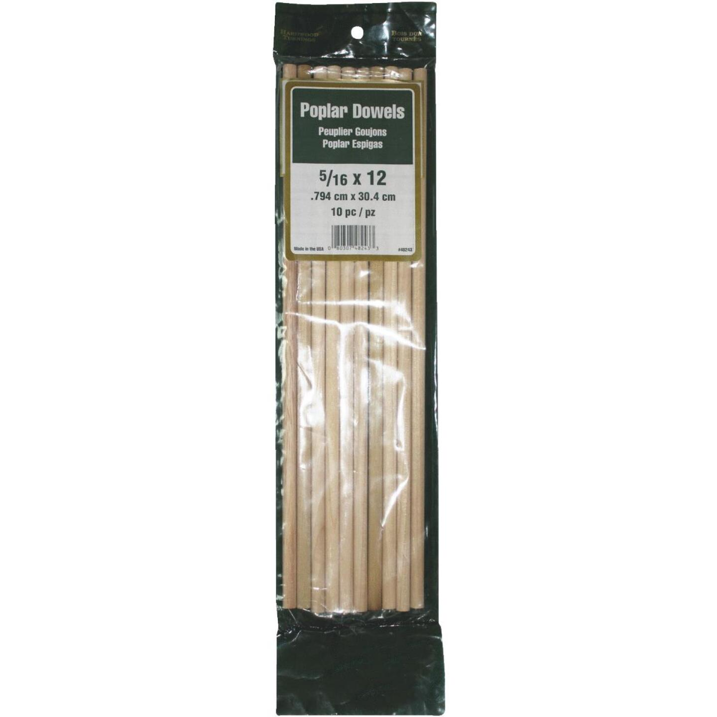 Madison Mill 5/16 In. x 12 In. Poplar Dowel Rod (10 Pieces) Image 1