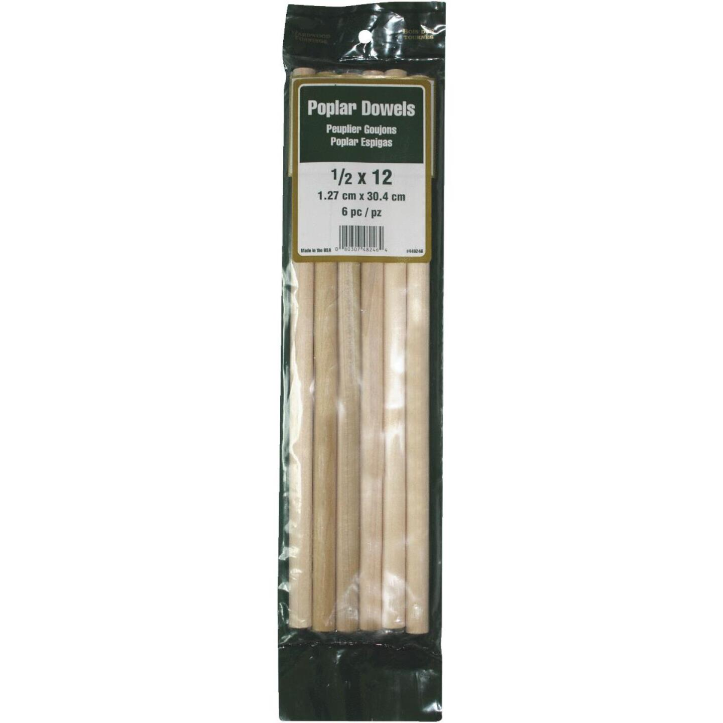 Madison Mill 1/2 In. x 12 In. Poplar Dowel Rod (6 Pieces) Image 1