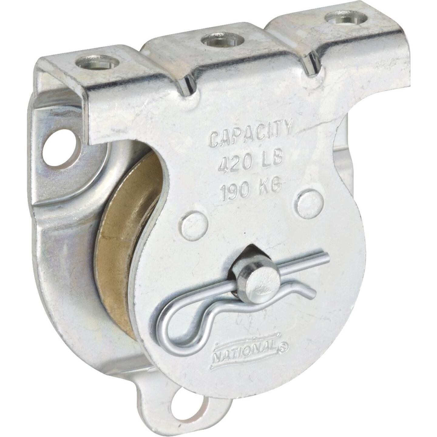 National 1-1/2 In. O.D. Single Wall/Ceiling Mount Rope Pulley Image 1