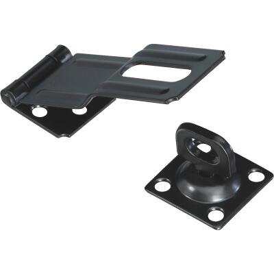 National 4-1/2 In. Black Swivel Safety Hasp