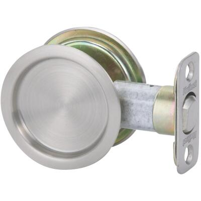National Passage Satin Nickel Pocket Door Pull