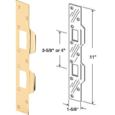 Defender Security Polished Brass 1-5/8 In. Heavy-Gauge High Security Strike Plate