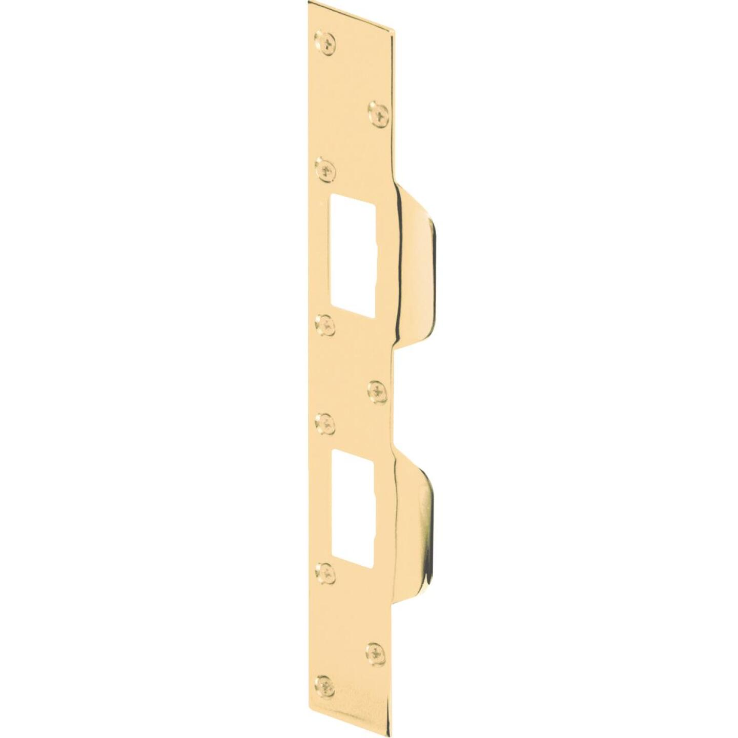 Defender Security Polished Brass 1-5/8 In. Heavy-Gauge High Security Strike Plate Image 2